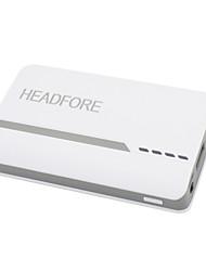 banque de puissance headfore de 6400mAh batterie externe pour Apple, Samsung téléphones intelligents et tout périphérique USB -blanc