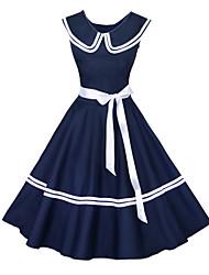 50s Maggie tang donne abito vintage nautico marinaio rockabilly Hepburn pinup affari altalena 526