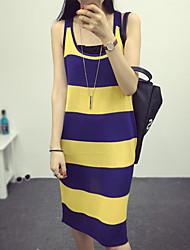 Women's Yellow Dress , Sexy Sleeveless
