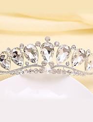 Bride's Flower Shape Crystal Rhinestone Forehead Wedding Crown 1 PC