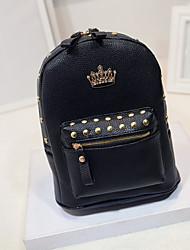 moda mochila de couro coreano no h126-2 coroa