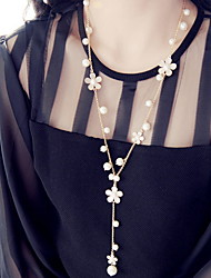 Romantic Flower Tassel Sweater Chain