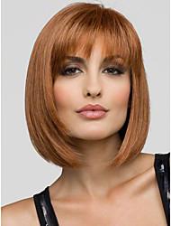 натуральный или синтетический короткий парик Бобо без взрыва клубники блондинка цвет