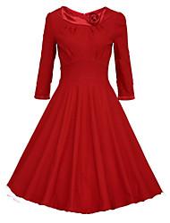 Women's Vintage 1950's Prom Retro Rockabilly Hepburn Pinup Cos Party Swing Dress
