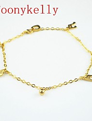 Toonykelly® 24CM Stainless Steel Women Gold Music Anklet Jewelry (1PC)
