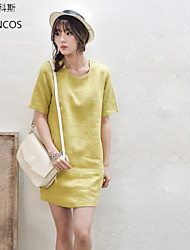 Women's CLOTHING STYLE Elasticity Sleeve Length Dress Length Dress (Fabric)