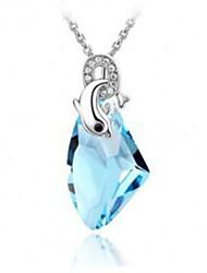 The new han edition sautoir Austrian import crystal necklace Dolphin crystal pendant