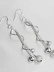2015 Hot Selling Products S925 Silver Plated Drop Earring Christmas Gift Jewelry Earring Fine Statement Jewelry