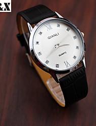 Women's Fashion  Simplicity Rhinestone Water-Proof Quartz Analog  Leather Wrist Watch(Assorted Colors)