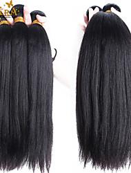 "3Pcs/Lot 10""-30"" Malaysian Virgin Human Hair Extensions/Weave Color Natural Black Yaki Straight Human Hair Wefts"