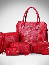 Мотт женщины крокодил зерна сумочку наискось 6 раз (многоцветный)