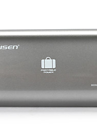 Pisen Portable Charger 6600mAh External Charger Backup Battery Power Bank for iPhone and other Smartphones