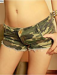 Sexy Girls Camouflage Jeans Short Shorts Hot Pants Denim Low Waist Daisy Dukes