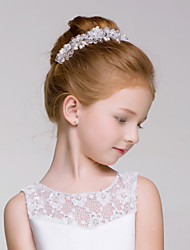 Flower Girl's Alloy / Acrylic Headpiece-Wedding / Special Occasion / Outdoor Wreaths 1 Piece Ivory