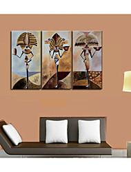 ручная роспись африканского тотем дома культуры стены искусства украшения картина маслом на холсте 3шт / набор без рамки