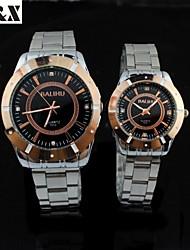 Couple's Fashion Leisure Water-Proof Quartz Wrist Watch(Assorted Colors)