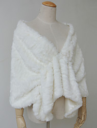 Fur Wraps Capelets Faux Fur White
