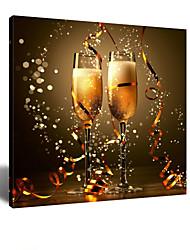 STAR® visuais compartilhar as alegrias da vitória - Elogios a arte da parede da lona champanhe vidro para sala de jantar pronto para