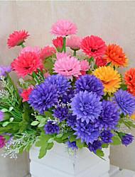 A Bunch Of 7 Y 14 Head Of Chrysanthemum Cloth Flowers (1PCS)