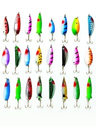 Fishing Lure Set 30pcs Metal Bait Spoon 4-8g with Hooks  #02840287