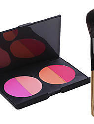 Pro Party 4 Colors Face Blush Blusher Powder Palette + 1PCS Blush Brush