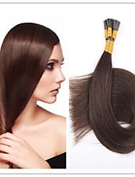 Stockhaar / i spitzen Haarverlängerung Jungfrau vor-verbundenes Haar Keratin Fusion Kapsel Haar 1g / s 100g / pc 1pc / lot auf Lager