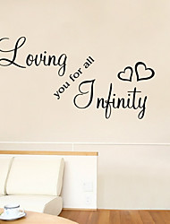 adesivos de parede adesivos de parede estilo de amar você para todas as palavras inglesas&cita parede adesivos pvc