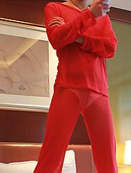 Masculino Meia Calça Masculina Masculino Malha/Lã