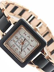 Women's Square Dial Alloy Band Quartz Analog Wrist Watch Cool Watches Unique Watches