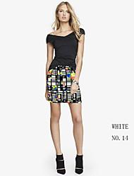 Women's Bodycon/Print Micro-elastic Skirts Women's Clothing Short Skirt Floral Printing Casual Women's Bottom Skirt