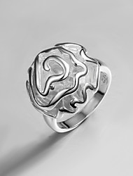2015 New Design Lady Dress Rose S925 Silver Plated Statement Ring Classical Design