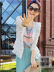 Moon Sunday Women's All Match Solid Color Lace Cardigan