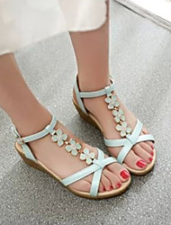 Women's Shoes Blue/Pink/White Wedge Heel Sandals (Rubber)