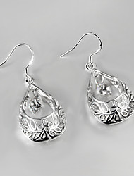 Plaqué 2,015 vente chaude de style italie argent boucles d'oreilles pour dame avec zircon bijoux de déclaration