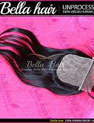 Brazilian Silk Base Closure Remy Virgin Human Hair Straight Weave Top Quality Hair Bella Hair