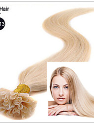 """3pcs / lot 1g / s 100g / pc 18 """"-28"""" droit brésilien ongles hair / vierge pré-collé en U extension de cheveux en stock"""