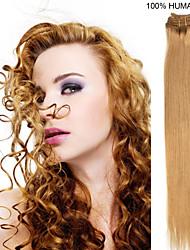 20inch 9pcs / set 120g clip-in hair remy human hair extensions 14 kleuren voor vrouwen schoonheid