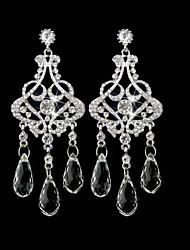 Damen Ohrring Silber/Legierung Drop Earrings