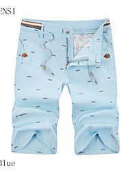 cortocircuitos ocasionales de los hombres del verano mens cinco pantalones delgados de algodón 5 marea pantalones pantalones cortos de