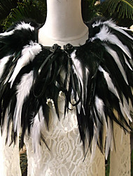 The rooster feathers dress collar collar fur