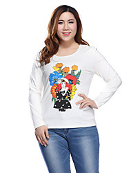Prettyshow 2015 Autumn New Style Women Plus Size XL-5XL O-neck Slimming Springy Casual Clothes QA3TT0122