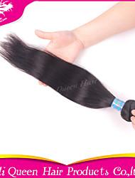 Ali Queen Hair products 6A Peruvian Virgin Hair Staight Natural Black Hair 1pcs/Lot 100% human hair extensions