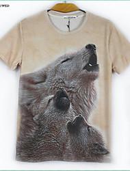 2015 Men's Summer Fashion 3D T Shirt Print Animals Sweater Shirt Hip-hop Tops(M-XXL)
