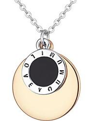 Women's Circle Shape letter Sequin Gold Necklace