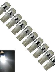 JIAWEN® 10pcs T10 1.5W 90LM Blue Light/Cool White  Side Maker Lamp LED Car Light (DC 12V)