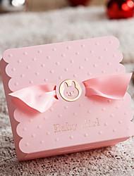 Cajas de regalos ( Azul cielo claro/Rosado , Papel de tarjeta Baby Shower