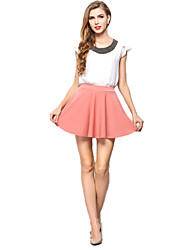 Women's Casual Chiffon Mini Skirts Tulle Skirt Pleated Juniors Skater Skirts