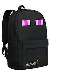 día minecraft Enderman mochila empacar nueva nylon mochila bolsa de la escuela juego mochila bolso negro