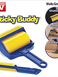 Sticky Buddy Carpet Sofa Clothes Pet Hair Crumbs Remover Cleaner Roller Brush