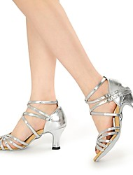 Non Customizable Women's Dance Shoes Leatherette Leatherette Latin High Heels Chunky Heel Practice / Beginner / Professional / Indoor